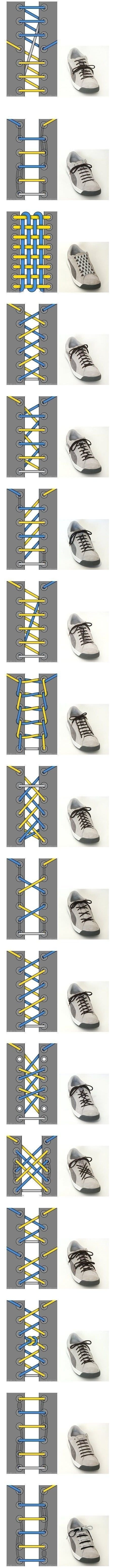 17 Ways To Tie Your Shoelaces