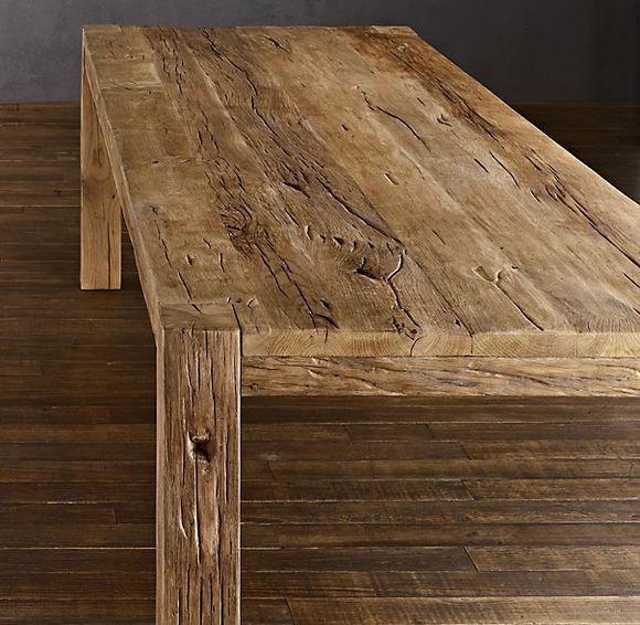 Restoration Hardware Parsons Reclaimed Russian Oak Dining Table