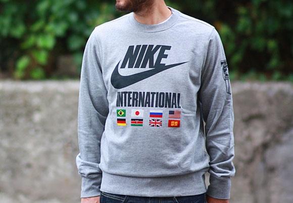 tanio na sprzedaż 100% autentyczności nowy autentyczny Nike RU NTF Track & Field International Crewneck - Cool ...