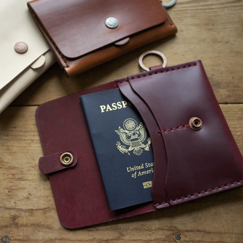 Corter Leather Passport Case