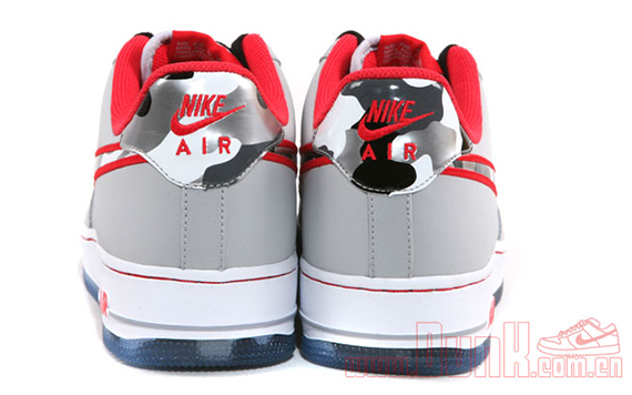 "Nike Air Force 1 Low ""Fighter Jet"" – Wolf Grey - Hyper Red"