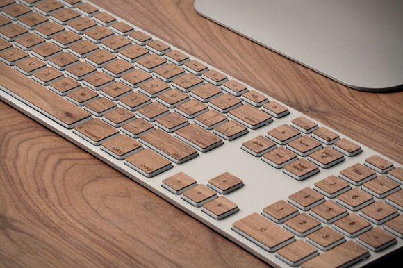 Mac Keyboard with Lazerwood Keys