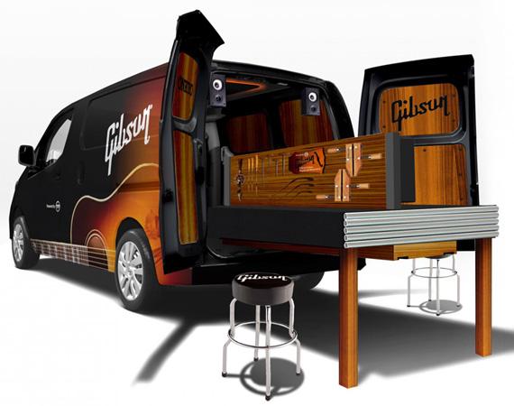 Gibson Guitar x Nissan NV200 Mobile Repair Van