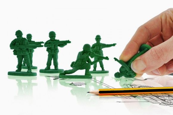 """War on Error"" Army Men Erasers"