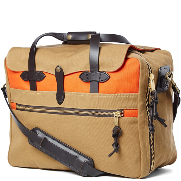 Filson Large Twill Carry On Color Block Travel Bag