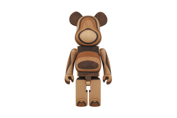 Karimoku x Medicom Toy 1000% Layered Wood Bearbrick