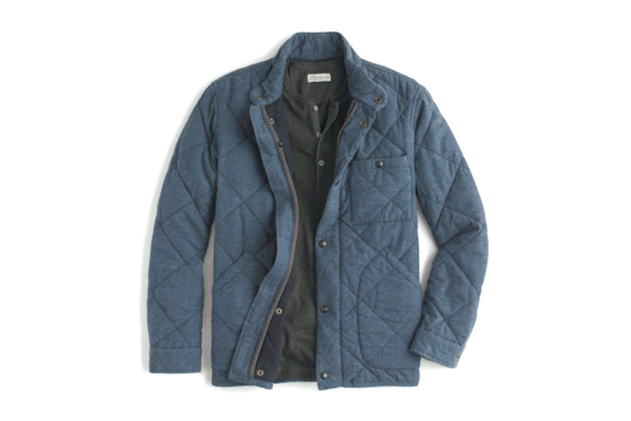 Broadmoor quilted jacket in Japanese chambray